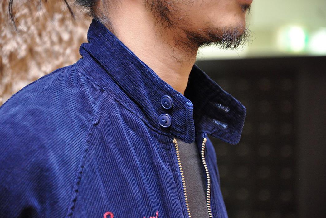 Samurai's-Indigo-Corduroy-Sport-Jacket-model-side-collar