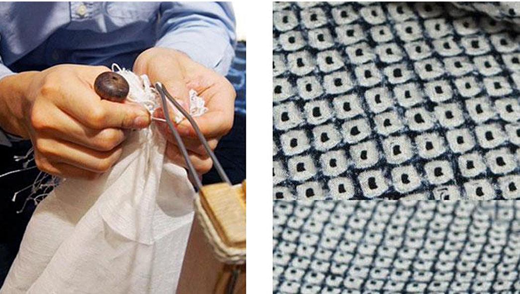 Shibori---Indigo-Tie-Dye-via-Ancient-Japan-Kanoko-shibori-via-Kiriko-Made