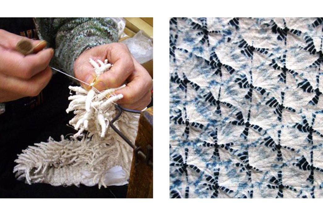 Shibori---Indigo-Tie-Dye-via-Ancient-Japan-Kumo-Shibori-via-Kiriko-Made