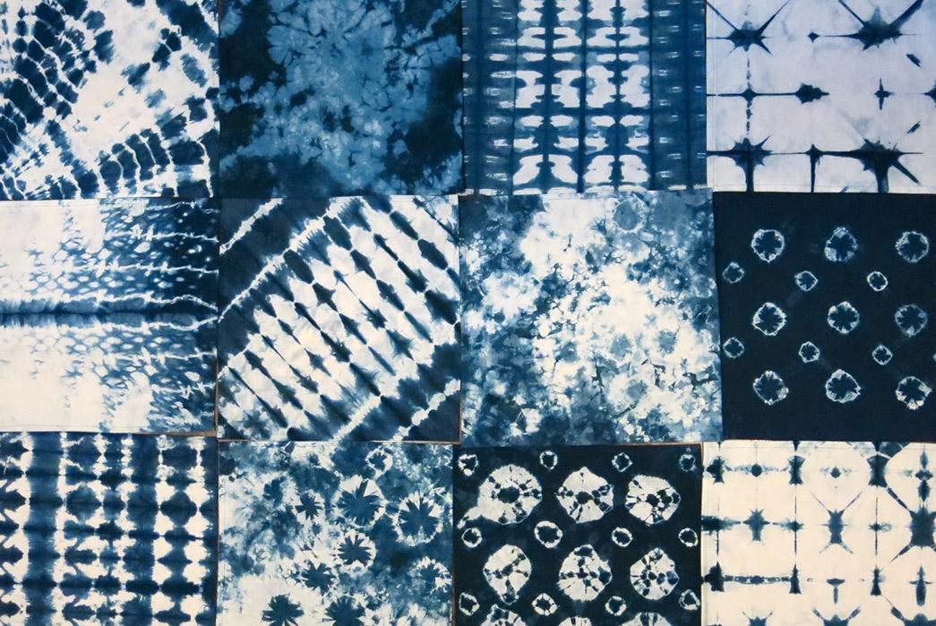 Shibori---Indigo-Tie-Dye-via-Ancient-Japan-Multiple-shibori-patterns-via-Cassie-Stephens