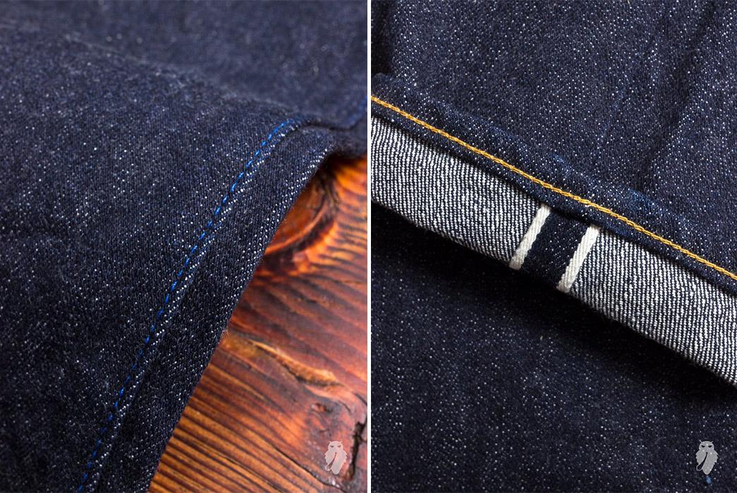 Tanuki-NSXT-SEN-16.5oz.-Natural-Indigo-Stretch-Selvedge-Denim-leg-detailedand-leg-selvedge