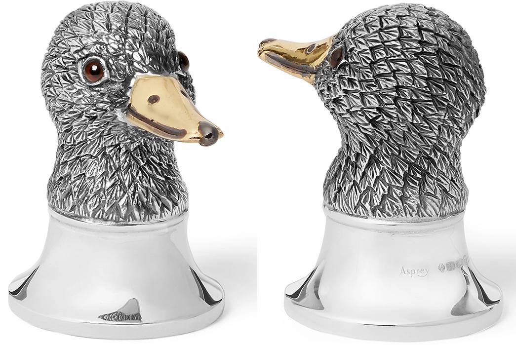Unique-Bottle-Openers---Five-Plus-One-Plus-One---Asprey-Duck-Oxidised-Sterling-Silver-Bottle-Opener