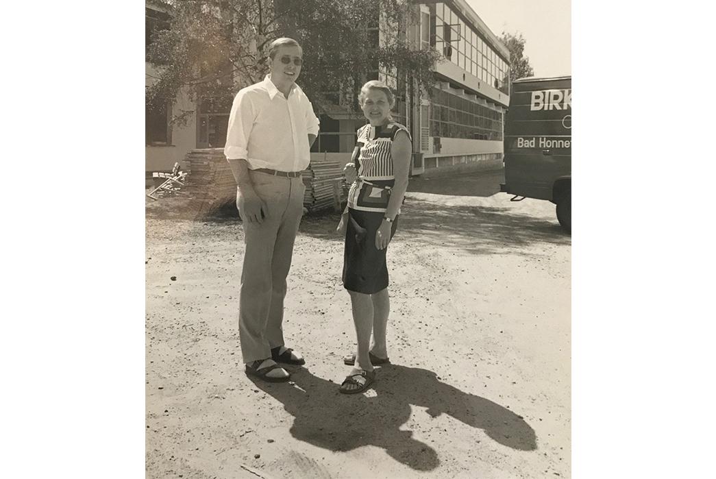 Birkenstock---History,-Philosophy,-and-Iconic-Products-Margot-Fraser-in-front-of-a-Birkenstock-van-via-Complete-Birkenstock