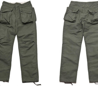 Engineered-Garments-Cotton-Double-Cloth-Norwegian-Pants-olive-front-back
