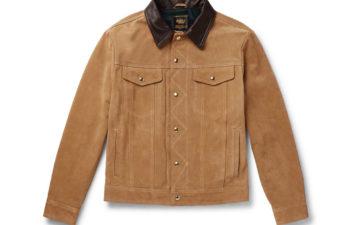 Golden-Bear-The-Holden-Leather-Trimmed-Suede-Trucker-Jacket-front