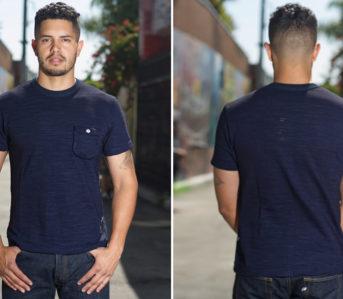 Pure-Blue-Japan-Supima-Cotton-Indigo-Dyed-Pocket-Tee-model-front-back