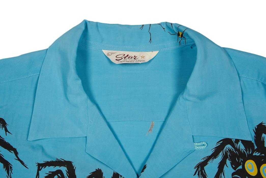 Star-of-Hollywood-Tarantula-Shirt-front-top-collar