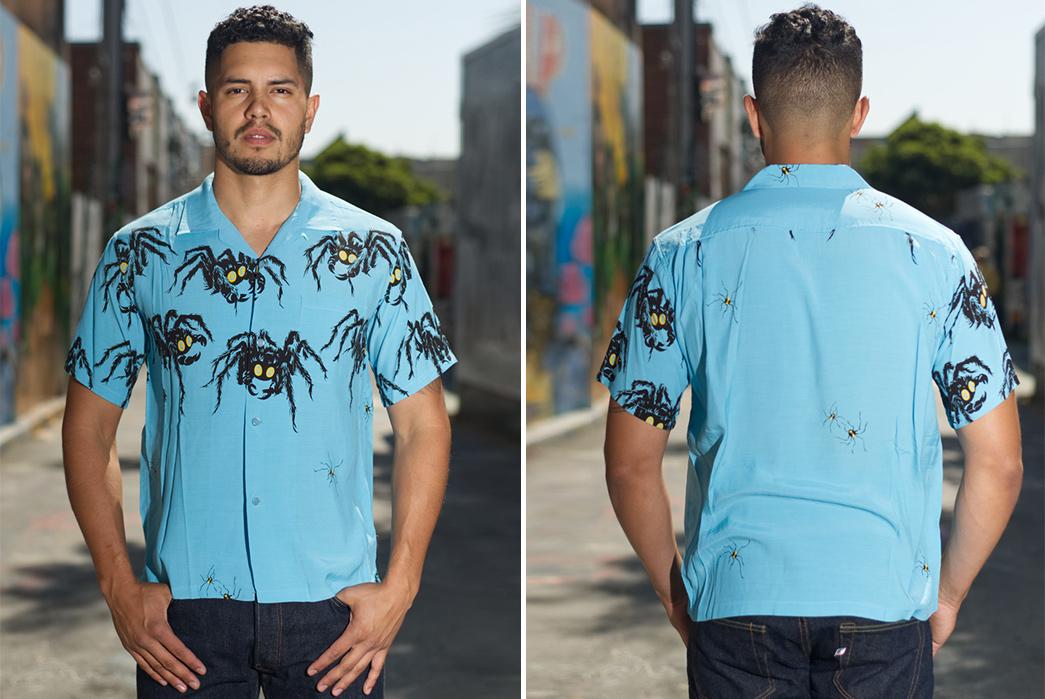 Star-of-Hollywood-Tarantula-Shirt-model-front-back