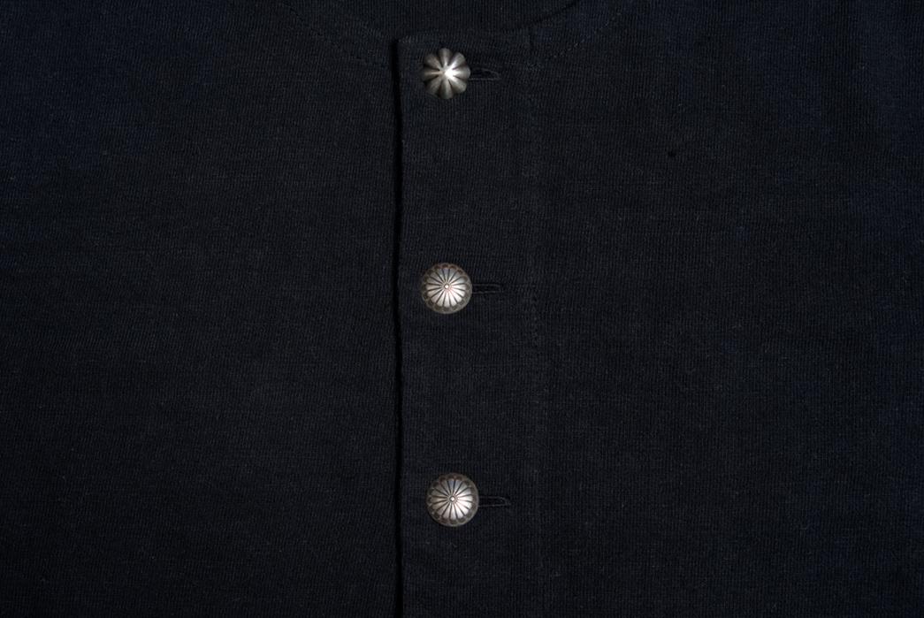 Stevenson-Overall-Co.-x-LEON-Magazine-Short-Sleeve-Henleys-black-front-buttons