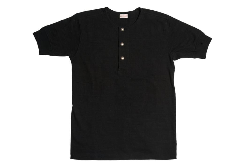 Stevenson-Overall-Co.-x-LEON-Magazine-Short-Sleeve-Henleys-black-front