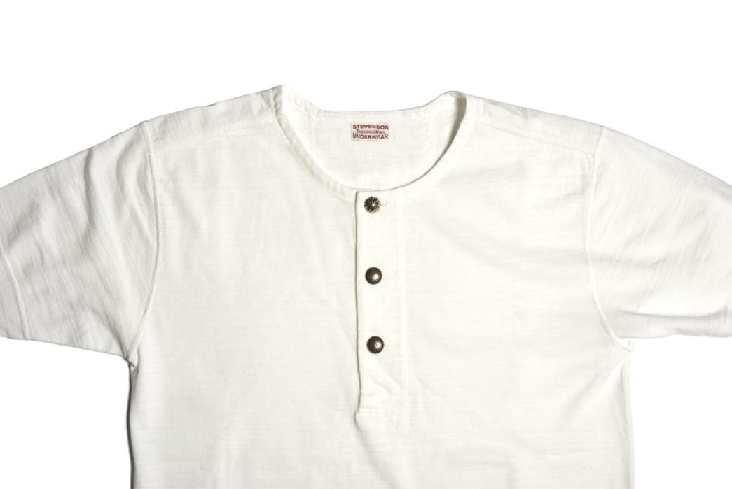 Stevenson-Overall-Co.-x-LEON-Magazine-Short-Sleeve-Henleys-white-front-detailed