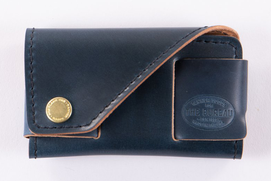 Tanner-Goods-x-The-Bureau-Nautical-Blue-Cordovan-Collection-front-closed-brand