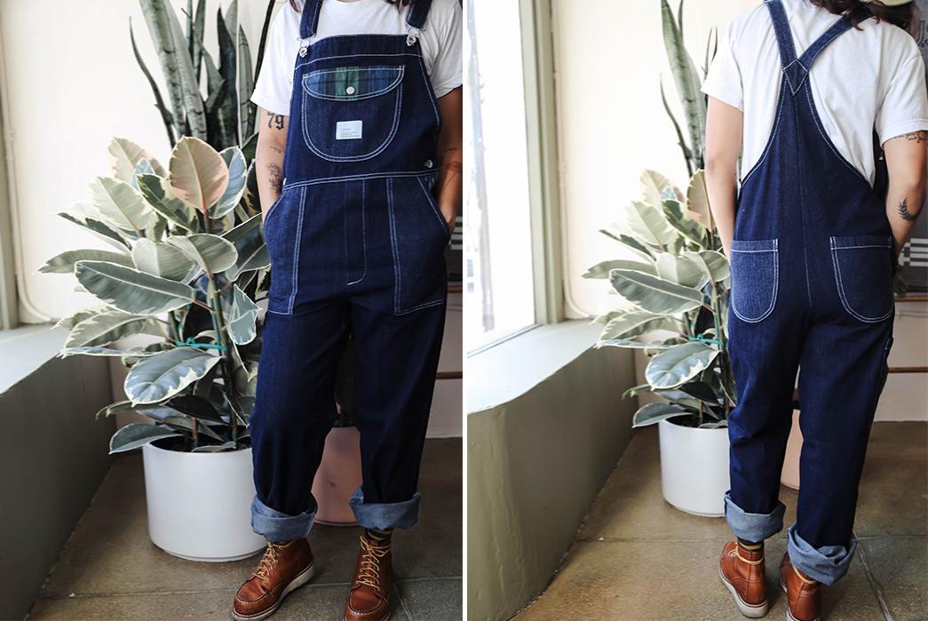 W'menswear-Denim-Dungarees-model-front-back
