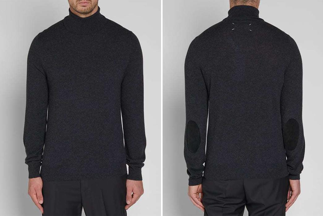 Cotton-Turtleneck-Sweaters---Five-Plus-One-Plus-One---Maison-Margiela-14-Classic-Elbow-Patch-Roll-Neck