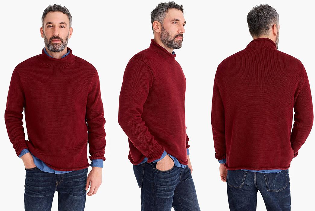 Cotton-Turtleneck-Sweaters---Five-Plus-One 1) J. Crew: 1988 Rollneck Sweater