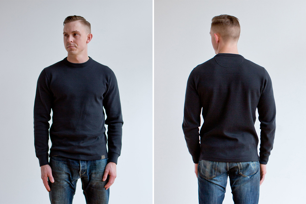 Crewneck-Waffle-Tees---Five-Plus-One 1) Filson: Waffle Knit Thermal Crew