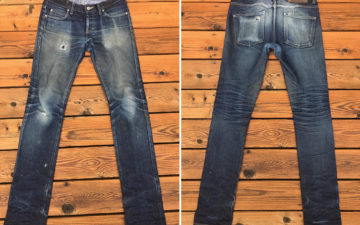 Fade-of-the-Day---Naked-&-Famous-Dry-Broken-Twill-11-oz.-(9-Months,-1-Wash,-6-Soaks)-front-back