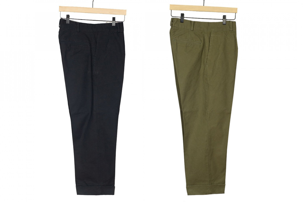 Fujito-Wide-Slacks-black-and-green-hanged