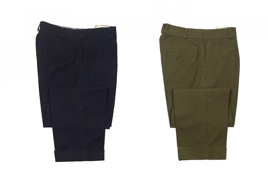 Fujito-Wide-Slacks-black-and-green-sides