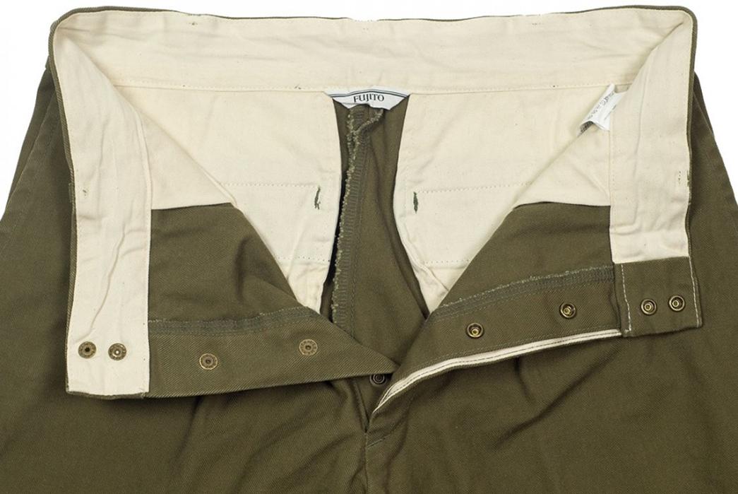 Fujito-Wide-Slacks-green-front-top-open
