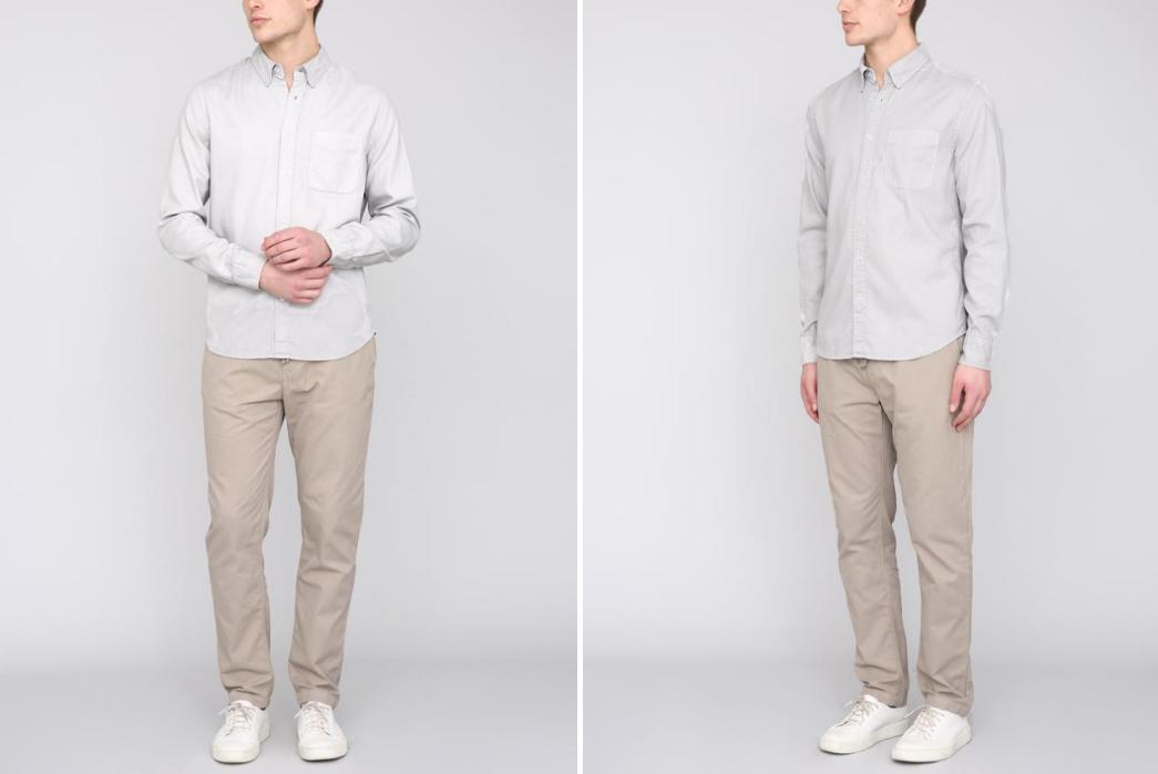 Long-Sleeve-Oxford-Cloth-Button-Downs---Five-Plus-One-2)-Save-Khaki-Button-Down-Collar-Oxford-Shirt