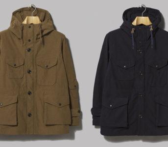 Nanamica's-Poly-Nylon-Jackets-Cruise-into-Fall-khaki-and-navy-fronts