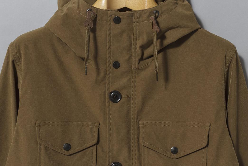 Nanamica's-Poly-Nylon-Jackets-Cruise-into-Fall-khaki-front-detailed