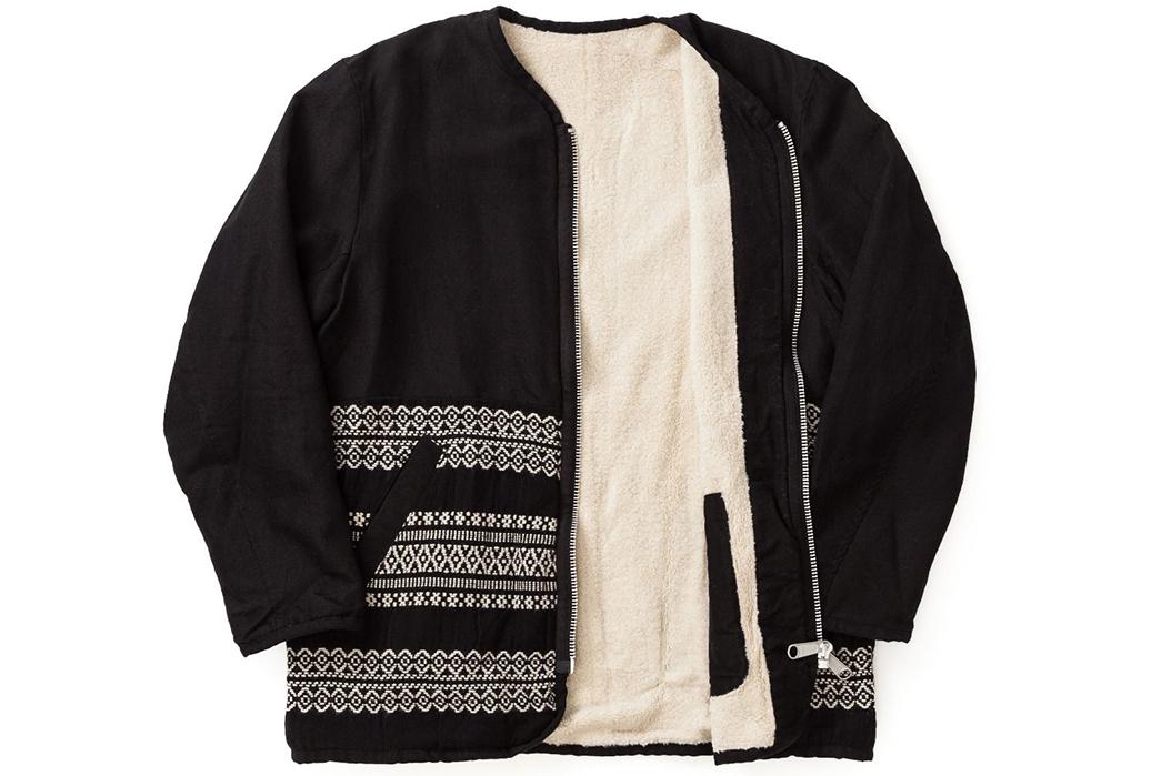 Sage-de-Cret-Liner-Jacket-black-front-open