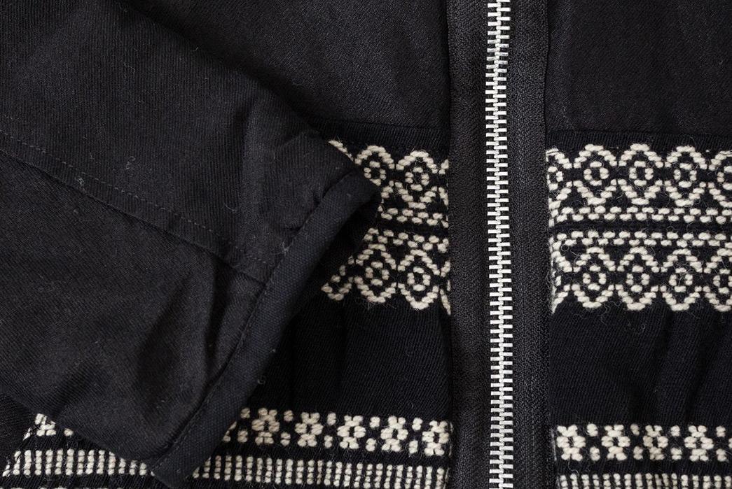 Sage-de-Cret-Liner-Jacket-black-front-sleeve-zipper