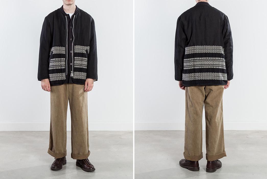 Sage-de-Cret-Liner-Jacket-black-model-front-back