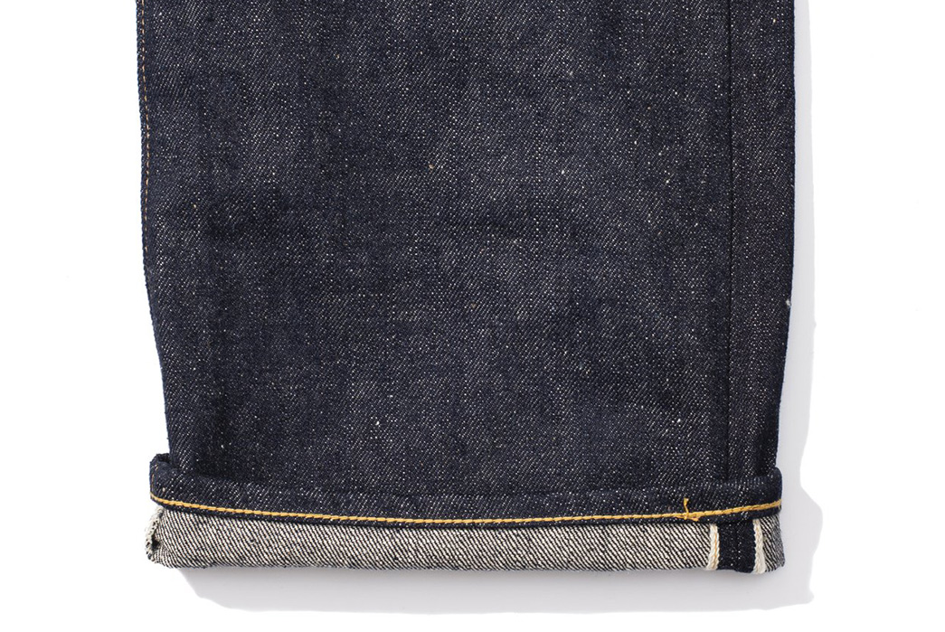 Warehouse's-Exclusive-Clutch-Cafe-Jeans-are-Limited-to-Just-50-Pairs-leg-selvedge