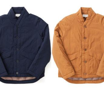 YMC-Stuffs-Goose-Down-Into-a-Kimono-front-blue-and-brown