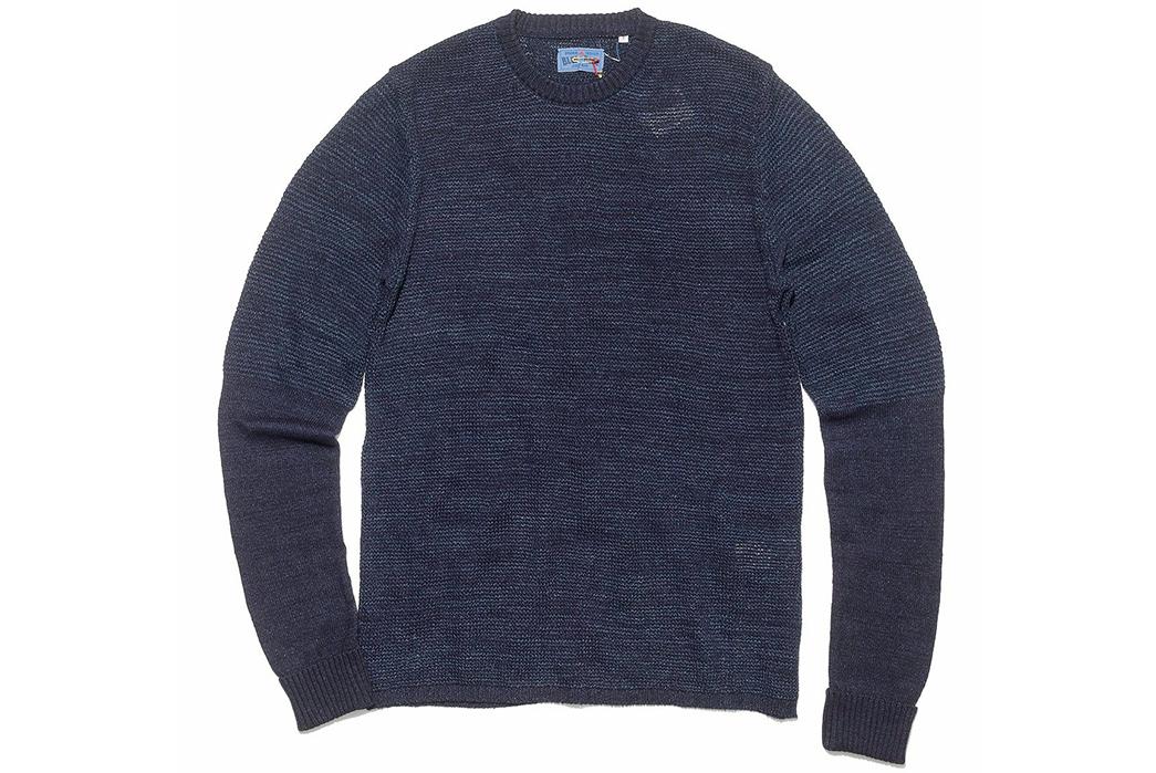 Blue-Blue-Japan-ersey-Drop-Long-Tail-Loose-Knit-Sweater-front
