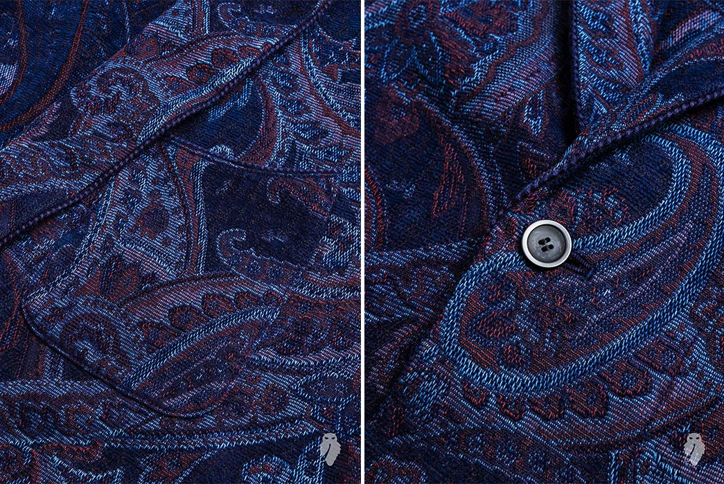 Blue-Blue-Japan's-Lounge-Set-is-an-Indigo-Dyed-Tapestry-coat-pocket-and-button