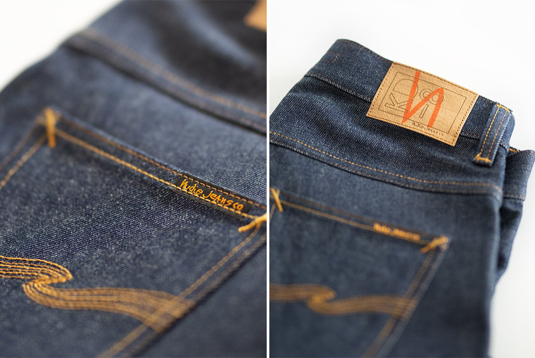 Japan's-First-Ever-Domestic-Denim-Goes-into-These-Nudies-back-pocket-and-leather-patch