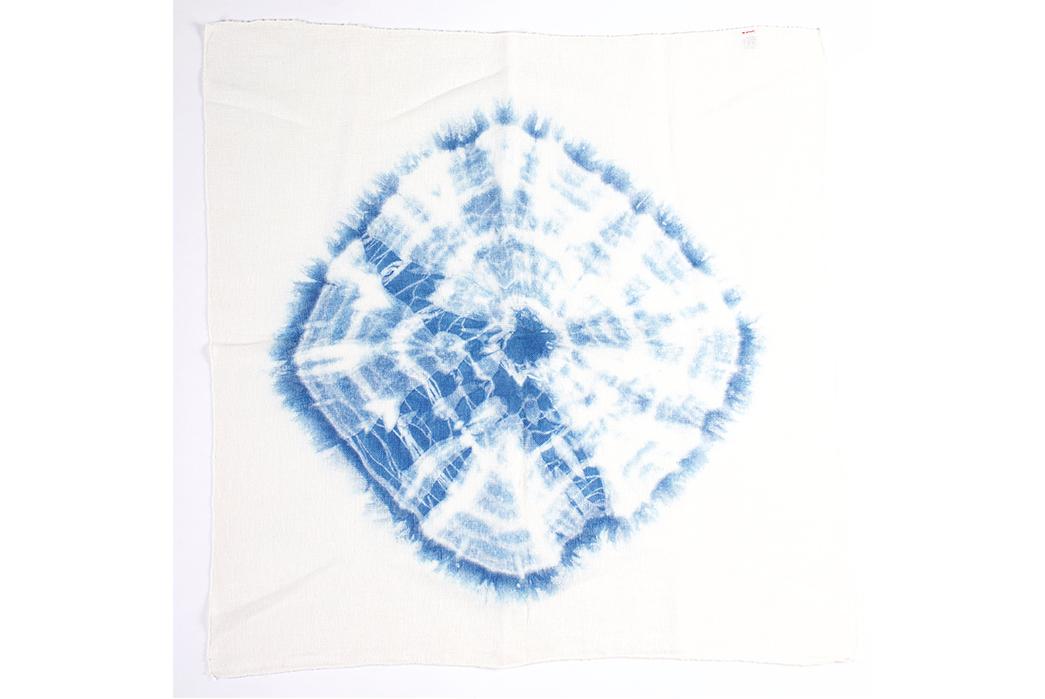 Jolie-Bird-x-NAQP-One-of-a-Kind-Shibori-Bandanas-blue-shape-on-middle