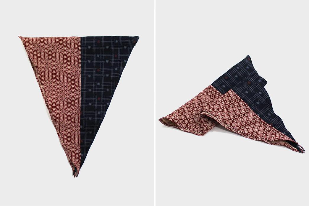 Kiriko-Split-Neckerchiefs-indigo-kasuri-and-red-asanoha-folded