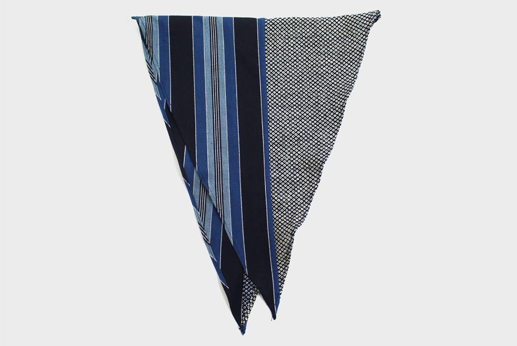 Kiriko-Split-Neckerchiefsindigo-shima-and-shibori-folded