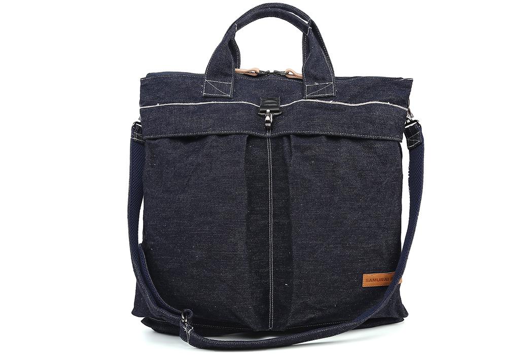 Samurai-17oz.-Denim-Helmet-Bag-front