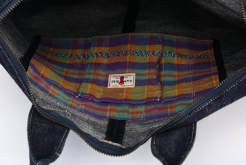 Samurai-17oz.-Denim-Helmet-Bag-inside