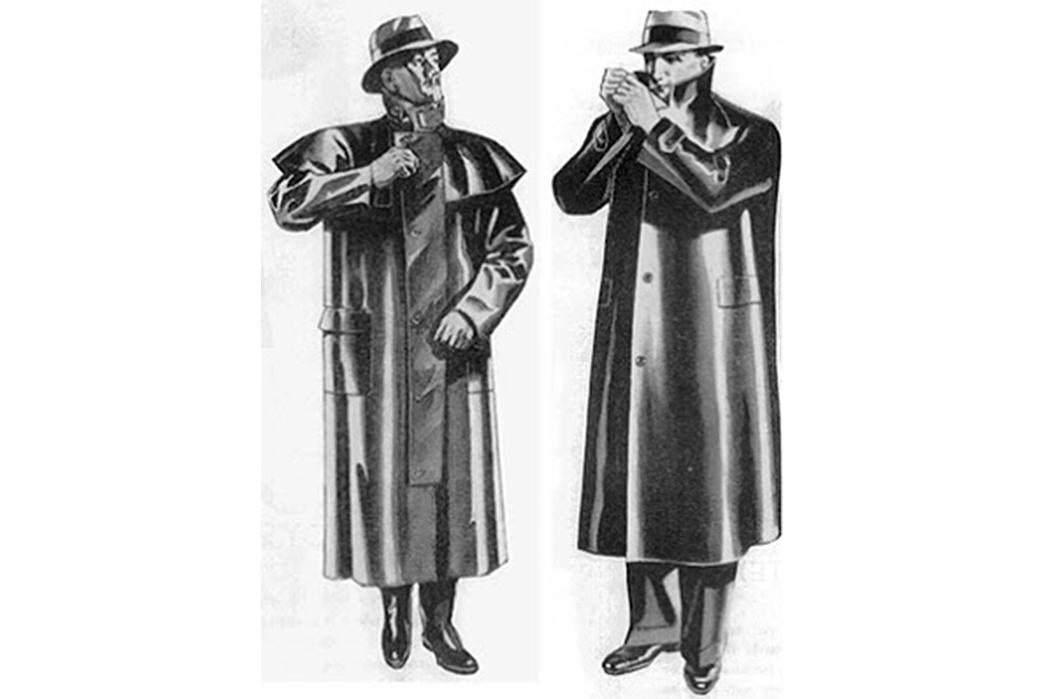 The-History-of-the-Trench-Coat The unbearably heavy early version of the Mackintosh raincoat. Image via LARK