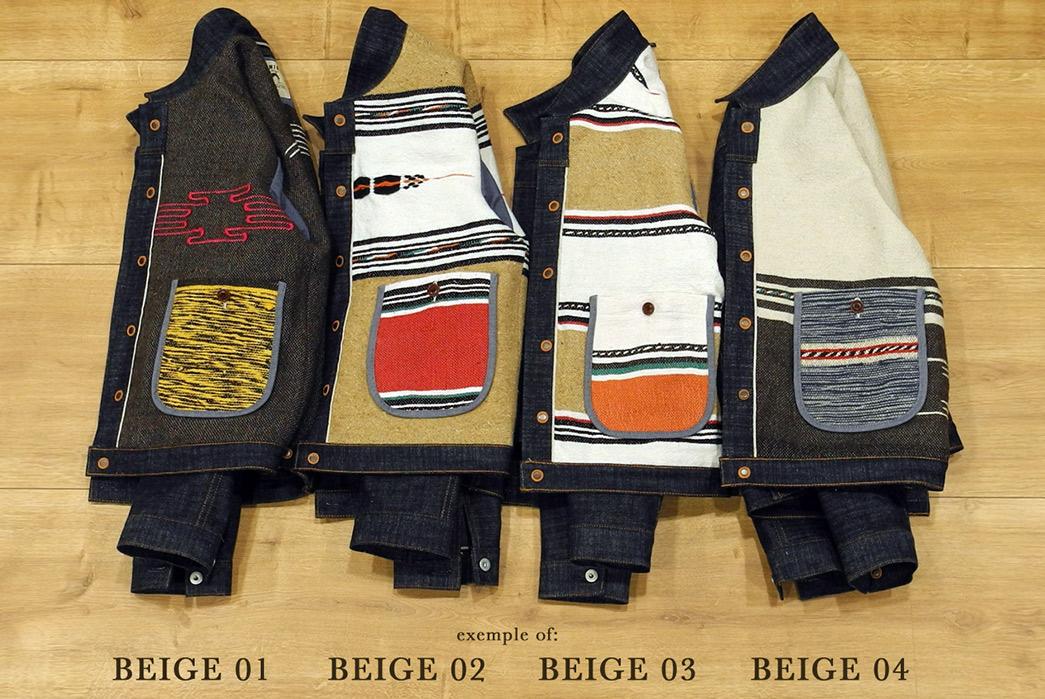 Traditional-Wool-Moroccan-Blankets-Line-Companion's-Newest-Trucker-Jacket-beige-1-4