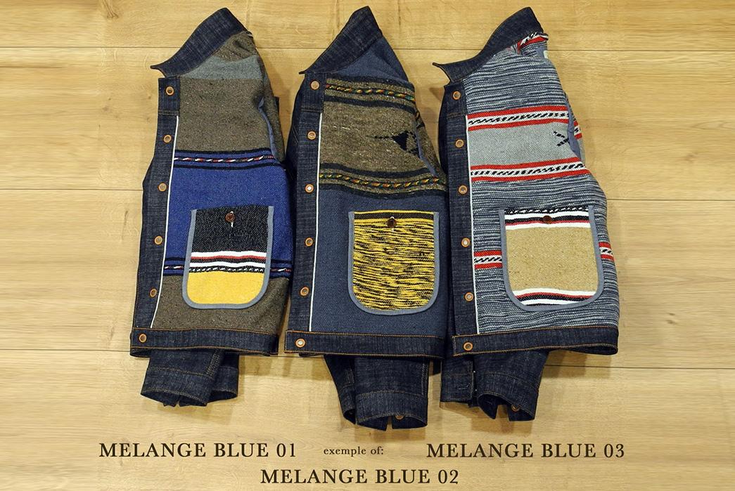 Traditional-Wool-Moroccan-Blankets-Line-Companion's-Newest-Trucker-Jacket-melange-blue
