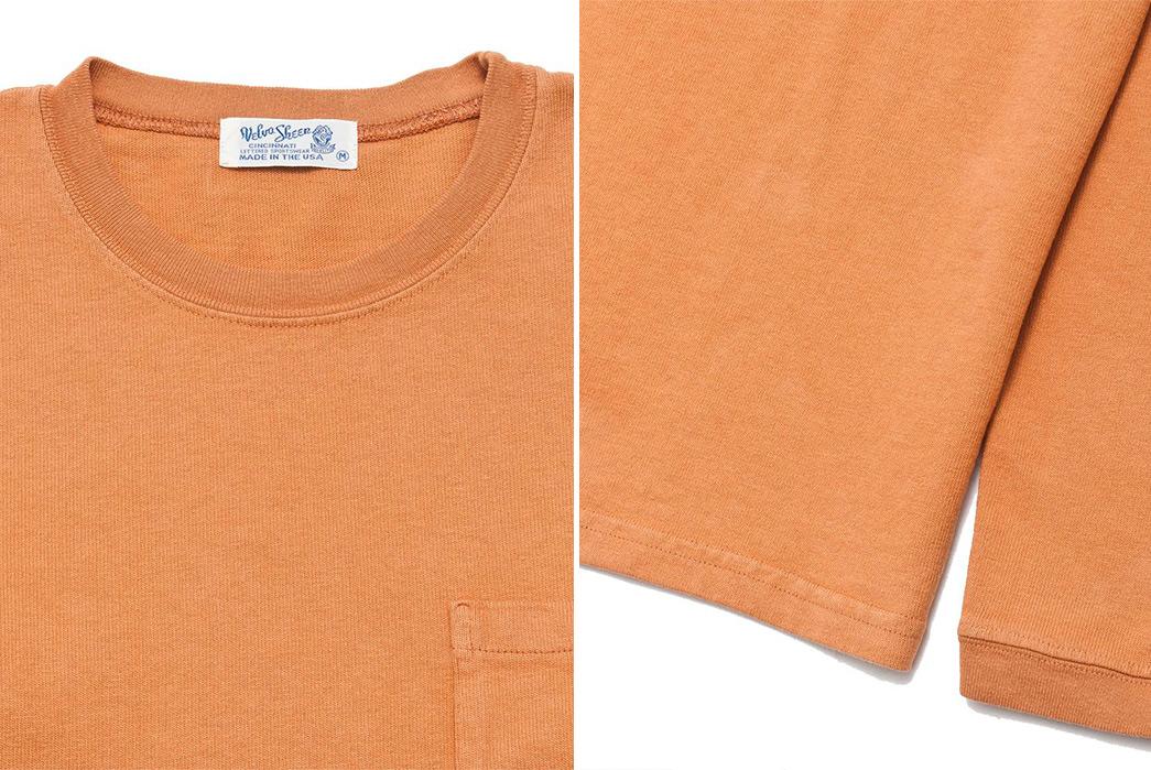 Velva-Sheen-Heavy-8oz.-Long-Sleeve-Tees-orange-collar-and-sleeve
