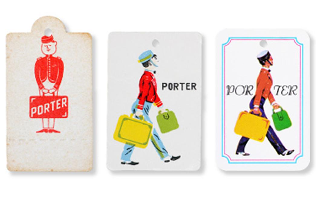 Yoshida-&-Co.-Brand-Profile-Early-sixties-Porter-paper-tags-and-branding-via-Porter-Yoshida.