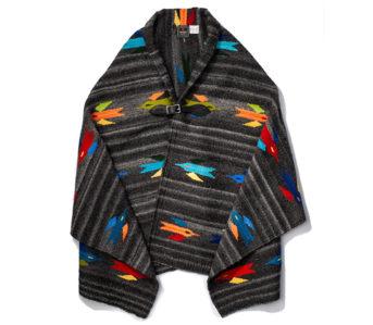 Chamula-Handwoven-Wool-Blanket-Ponchos-dark grey