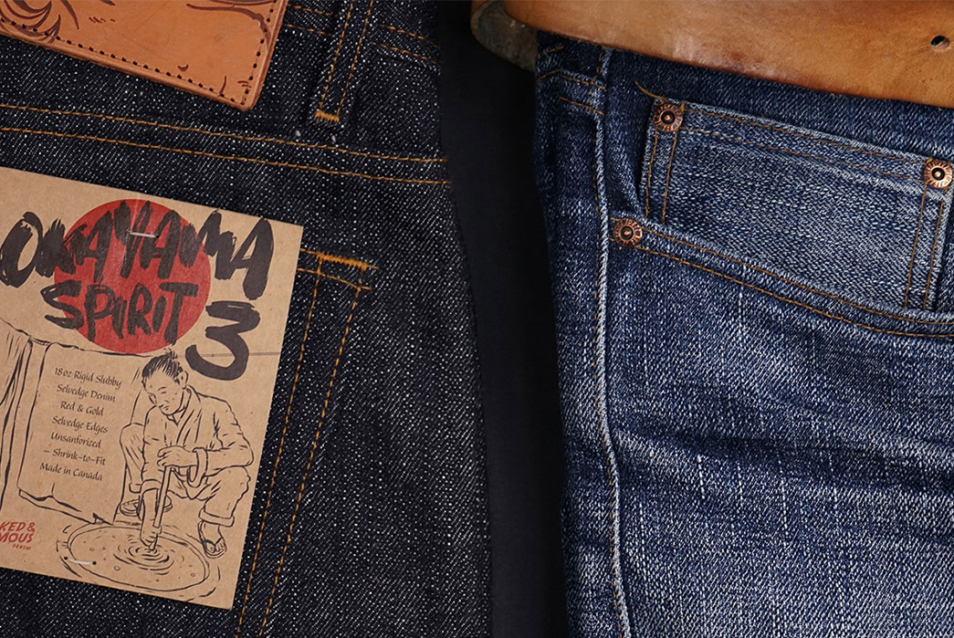 Fade-of-the-Day---Naked-&-Famous-Weird-Guy-Okayama-Spirit-3-(10-Months,-3-Washes,-1-Soak)-black-and-blue-detailed