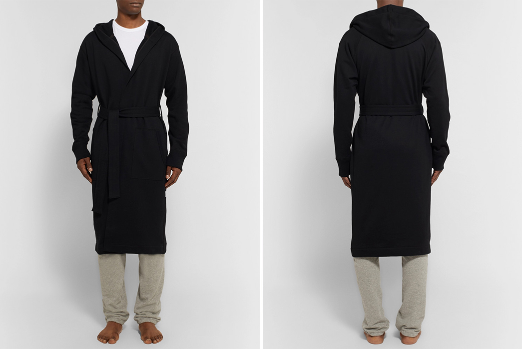 Luxurious-Robes---Five-Plus-One 1) Reigning Champ: Loopback Cotton Jersey Hooded Robe