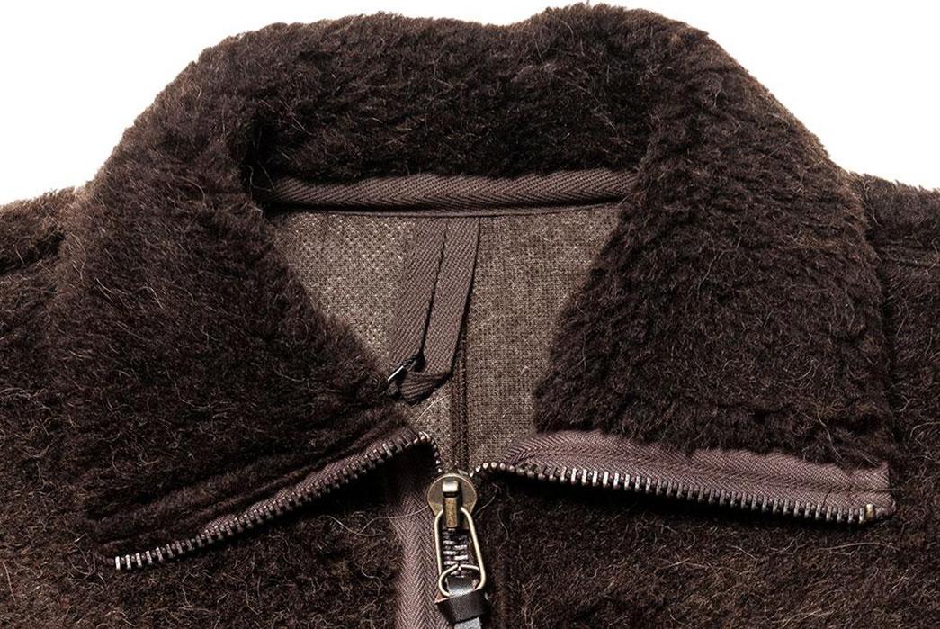 Nigel-Cabourn-40s-Wool-Alpaca-Pile-Jacket-front-collar