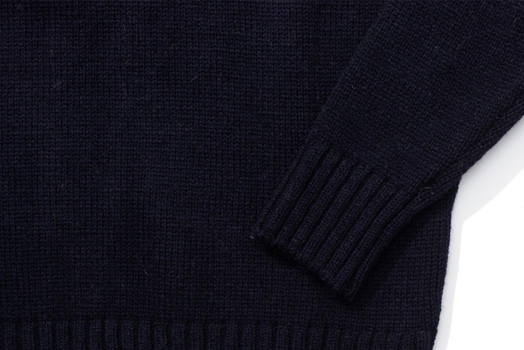 Pherrows-Fuses-Wool-Blankets-into-Sweaters-dark-sleeve